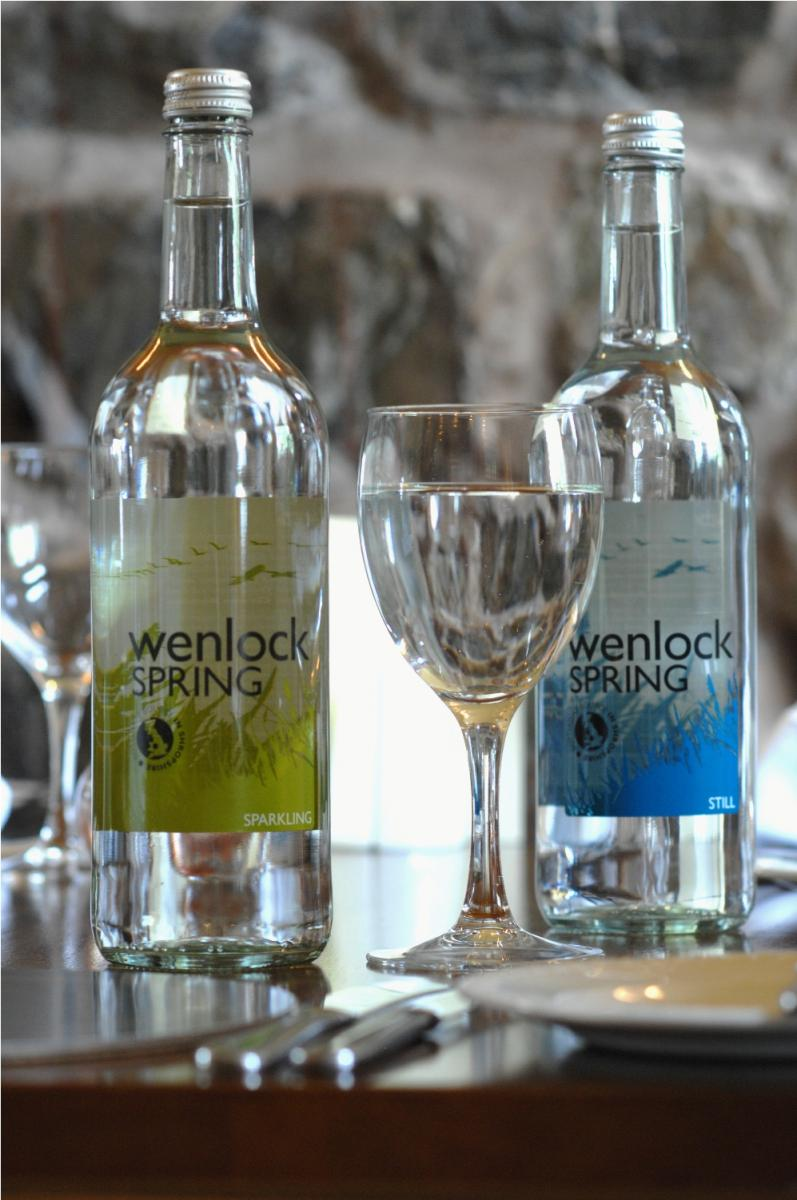 Serving and Drinking Wenlock Spring